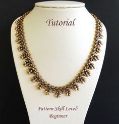 PUNTILLA twin or superduo beaded necklace beading tutorials