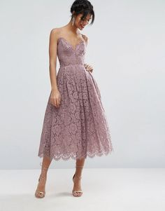 ASOS Lace Cami Midi Prom Dress at asos.com - Dreamiest dress of all time right here.
