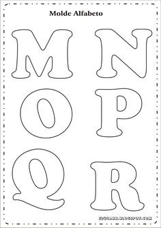 Briefvorlage pro Poster m n o p q r Alphabet Letter Templates, Printable Letters, Diy Letters, Letters And Numbers, Felt Patterns, Applique Patterns, Quilling Designs, Diy Hair Accessories, Lettering