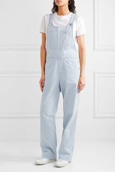 A.P.C. Atelier de Production et de Création - Montana Striped Cotton-blend Overalls - Blue - FR38