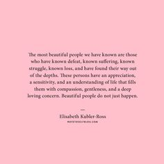 Beautiful People - oh my this is amazing!! Especially in light of what has happened, it truly is about how you deal with it and come out the other side with your experience.