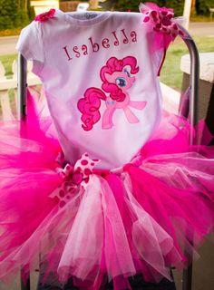 Pinkie Pie Birthday Outfit, My Little Pony Outfit, Pinkie Pie Costume, Pinkie Pie tutu, Personalized Pinkie Pie shirt, Pinkie Pie Bow