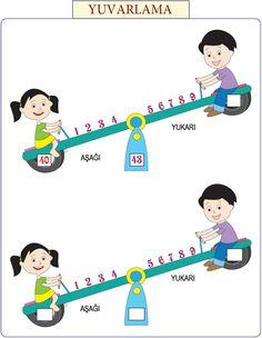 2. Sınıf Matematik Dersi İçin Yuvarlama Tabloları Etkinlikleri