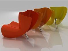 CAPPELLINI Felt chair by Marc Newson