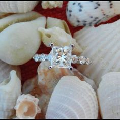 Beach proposal - A picture of my ring, I am so in love! <3 He gave me the most memorable proposal night a girl can dream of =)
