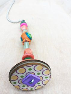 Light Pull and Ceiling Fan Pull/Colorful/Polymer Clay/ Glass Beads/Home and Living/Home Decor/Funktini/Lighting/Unique Home Decor Gift