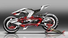 Bimota - Adjustable Motorcycle Concept for the Weight Balance / School Project / ISD (FRA) by Jean-T Concept Motorcycles, Cool Motorcycles, Futuristic Motorcycle, Futuristic Cars, Moto Bike, Motorcycle Bike, Super Bikes, Motorbike Design, Automotive Design