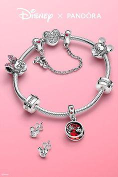Pandora Bracelets, Pandora Jewelry, Silver Bracelets, Disney Charm Bracelet, Disney Jewelry, Pandora Charms Disney, Pandora Collection, Friendship Jewelry, Charm Rings