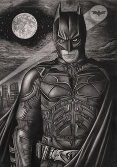 wow. just wow. ~~ 'The Dark Knight' graphite drawing by Pen-Tacular-Artist.deviantart.com on @deviantART
