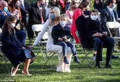 Ivanka Trump's children play with White House turkey at pardoning ceremony | Daily Mail Online