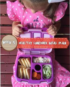 A week of delicious, easy, and healthy lunchbox meal plans that are perfect for your preschooler or elementary school child. Kids Lunch For School, Healthy Lunches For Kids, Healthy School Lunches, Kids Meals, School Children, Healthy Snacks, Lunch Box Recipes, Lunch Snacks, Lunchbox Ideas