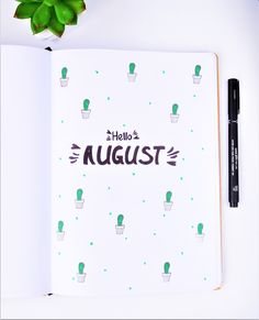 Bullet journal setup august | The DIY Life