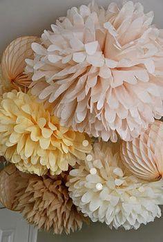 Set di colori naturali di 25 pompon per la di TheTrueLovers