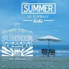 "Summer is finally ""Hehehe"" ( @devinztagram Made with @fontstudio_rc) #fontlab #summer #sun #season #seasons"