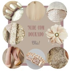 nude and gold moodboard