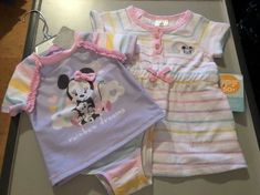 3e5f26ca8e Disney store Minnie Mouse Baby Girl Swimsuit  amp  Coverup Set 18-24 M (