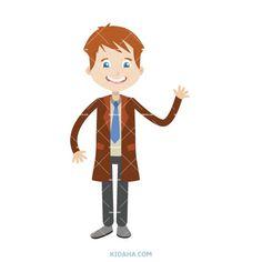 kid businessman character vector illustration #kid #character #cartoon #kidaha #characterdesign #planner #student #education #vector Kid Character, Character Design, Student Cartoon, Boy Or Girl, Clip Art, Education, Illustration, Cute, Kids