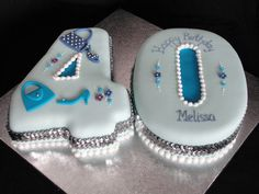 Bespoke Bakery - Cakes for Special Occasions! Based in Basingstoke Hampshire - Numeral Cakes Number Birthday Cakes, Number Cakes, 40th Birthday Parties, 40 Birthday, Birthday Ideas, Cupcake Cookies, Birthday Cookies, Cupcakes, 40th Cake