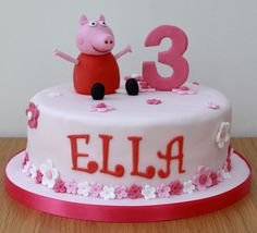 peppa pig - OMG I THINK THIS IS THE CAKE ... any more obvious :) My Ella's Turning 3 !!!