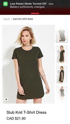 03ad69f60b Forever 21 Women s Slub Knit T-Shirt Dress ( 18) ❤ liked on Polyvore