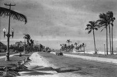 PRAIA DE IPANEMA - Esta fotografia de Tomas Somlo mostra a Praia de Ipanema nas imediações do Jardim de Alá. O muro que se vê à esquerda é o do Country Club. O antigo canteiro central, onde estão as pipas, com seus postes, jardins e bancos, era muito mais simpático do que hoje em dia. Na época da fotografia o gabarito para prédios na orla de Ipanema era de, no máximo, cinco andares. Depois, durante a gestão de Marcos Tamoyo, começaram as exceções que acabaram por se generalizar. Alguém…
