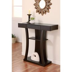 Bon Furniture Of America Ames Modern Multi Storage Cappuccino Console Table |  Overstock.com Shopping