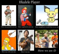 Ukulele Player. Okay not the wife one 'cause I'm a girl but its still funny!