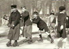 Vintage Roller Skaters by mrsris, via Flickr