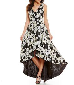 Calvin Klein Embroidered HiLow Gown #Dillards