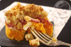 Crumble of butternut, parmesan, bacon and onions Bacon, Parmesan, Ricotta, Cornbread, Macaroni And Cheese, Gluten, Veggies, Meat, Chicken