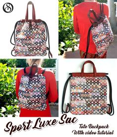 Fun sewing patterns for bags and accessories Diy Sewing Projects, Sewing Projects For Beginners, Sewing Hacks, Sewing Tutorials, Sewing Tips, Sewing Ideas, Beginner Sewing Patterns, Bag Patterns To Sew, Free Sewing