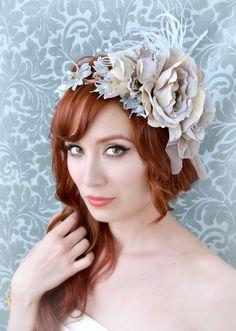 Fascinator nuptiale, Couronne de fleur de lavande, Couronne de cheveux - antoinette - Accessoires cheveux de mariage de mariage sur Etsy, 103,51€