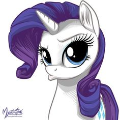 PonyDerivative - Rarity - Rarity - Duck Face ❤ liked on Polyvore