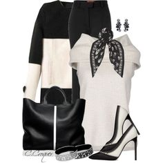 A fashion look from December 2014 featuring Ralph Lauren Black Label sweaters, Missoni pants and Yves Saint Laurent pumps. Browse and shop related looks.