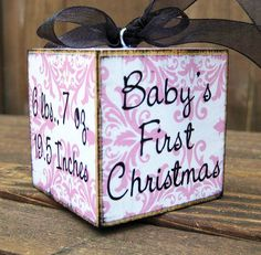 Babys first christmas ornament - one side a photo mod podged on..?: )