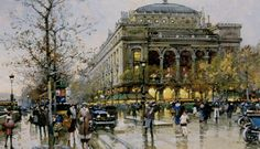 Art Renewal Center :: Eugene Galien-Laloue :: La Place du Chatelet