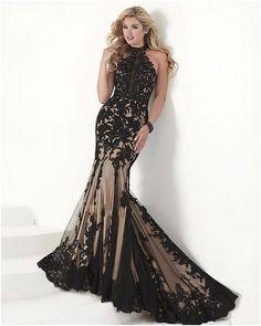 >> Click to Buy << Elegant Black Tulle Mermaid Evening Dresses Long 2016 Lace Applqiues Crystals Plus Size Formal Evening Gowns vestido de festa #Affiliate