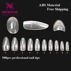 500pcs False Nails Oval French Fake Nails Short Clear Half Cover Nail Decorated ABS Beauty Nail Tips 500pcs Manicure Accessories #clothing,#shoes,#jewelry,#women,#men,#hats,#watches,#belts,#fashion,#style