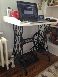 Dekoideen Wohnzimmer Ideen Raumgestaltung DIY Balkon Naehmaschine Computertisch
