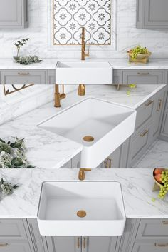 Trento's timeless white color and clean lines will lift your kitchen design to new heights - whether your end goal is rustic vintage or modern elegance. The beauty of fireclay complements any kitchen decor and can appeal to almost any taste. It's deep basin allows you to easily wash large pots and pans, helping you keep your countertops clean Apron Front Kitchen Sink, Single Bowl Kitchen Sink, Farmhouse Sink Kitchen, Farm Sink, Kitchen Design, Kitchen Decor, Floating Sink, Farmhouse Aprons, White Sink
