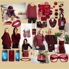 """""""Inspiração burgundy"""" by clothes-cm on Polyvore"""