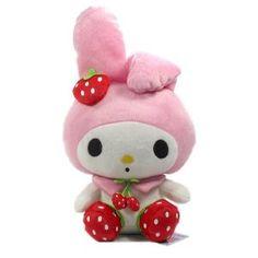 "Furyu Official Sanrio My Melody Red Strawberry Big Plush - 3276 - 13"" Pink"