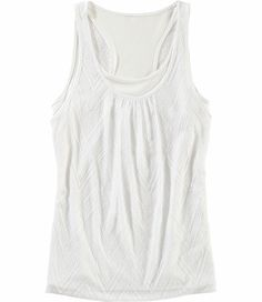 Title Nine: Two-Fer Tank Top - Layered tank style in one easy, tangle-free, pull-on piece. Lace-like ultra breathable poly outer with a silky poly/spandex inner racerback layer. XS(2), S(4-6), M(8-10), L(12-14), XL(16)