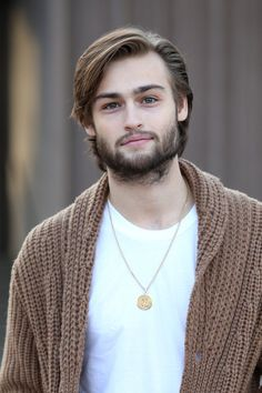 Douglas Booth in Celebs at London Fashion Week