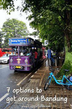 Seven options to get around Bandung | Traveling in Bandung is easy once you know your options: taxi, rent a car, ride bandros, use ride hailing apps | #ExploreSunda #Bandung #Bandros Bandung City, Bike Shelter, Classic Restaurant, Painted Vans, Art Deco Buildings, Top Destinations, Travel Alone, Car Rental, Public Transport