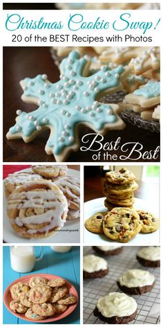20 best-of-the-best Christmas cookie recipes! Praline Cookies, Candy Cane Kisses, Oatmeal Coconut Chewies, Sugar Cookie Cut-Outs, Pecan Chewies, Peanut Butter Pretzel Sugar Cookies, Pretzel Caramel Chip Cookies, Fudge Stuffed Chocolate Chip Cookie Bars, Brownie Mix Cookies, Snowball Cookies, Cinnamon Roll Cookies, Favorite Sugar Cookies, Ultimate Chip Cookies, Chewy Sugar Cookies with Sprinkles, Loaded Sweet & Salty Cookies, Nana's Butter Cookies, Peanut Butter Cup Cookies, Gingerbread ...