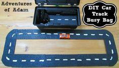 DIY Car Track Busy Bag | http://adventuresofadam.co.uk/diy-car-track-busy-bag/
