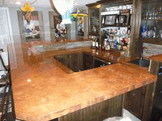 Copper Countertop Before & After-  Mitchell & Aimee Wren