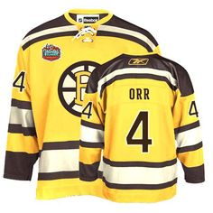 Boston Bruins Bobby Orr 4 Yellow Authentic Jersey Sale