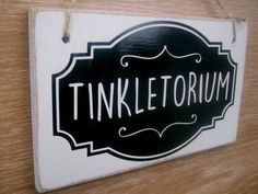 Tinkletorium shabby chic funny toilet sign. by FairleyUniqueDecals